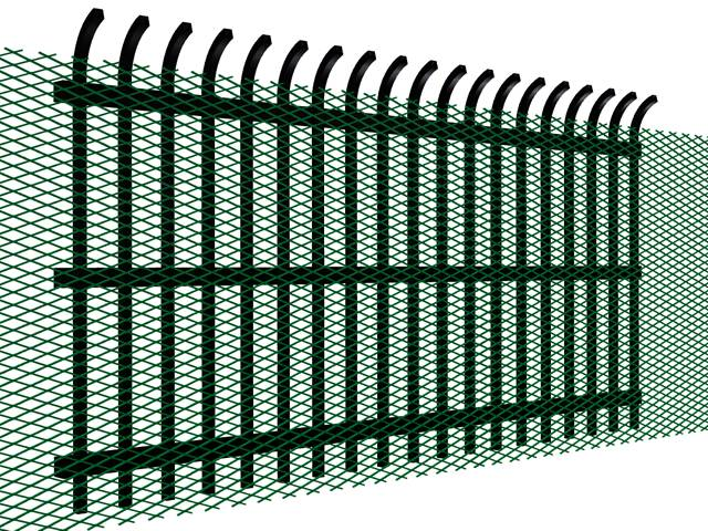 Expanded Metal Fence for Higher Security Fencing and Barriers